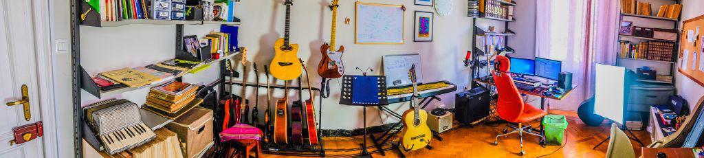 foto dello studio chitarra genova